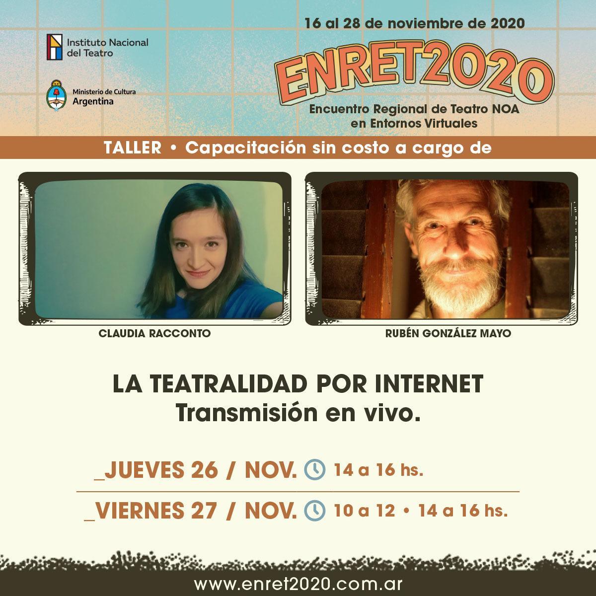 Taller La Teatralidad por Internet - Transmisión en vivo