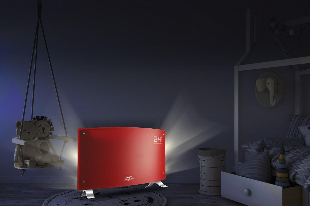 Peabody - Vitroconvector Led - Rojo