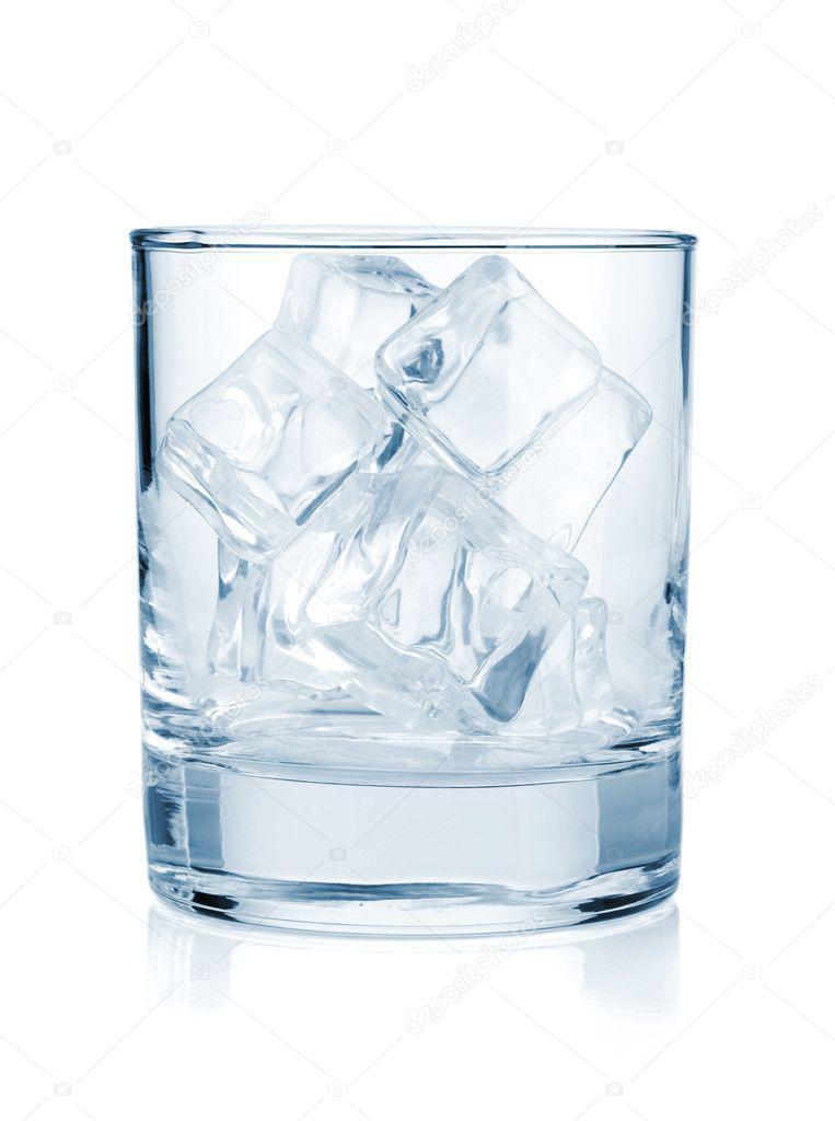 Vaso con hielo